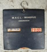 Disque De Stationnement Ancien Publicitaire Minerve Assurances. Années 70. - Publicité