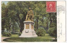 Statue Of Robert Burns In Washington Park, Albany, N.Y. - Albany