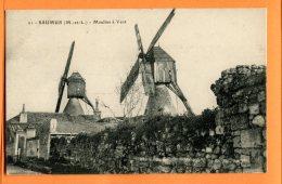 ALB609, Saumur, Moulin à Vent, Mühle, Mill, 21, Circulée  1923 Sous Enveloppe - Saumur