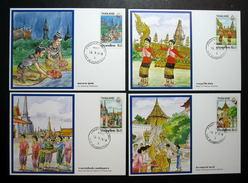 Thailand Maximum Cards 1987 Visit Thailand Year - Thailand