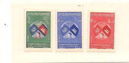 CAMBODGE Scott 59-61 Yvert 62-65 (3) ** Cote 4,50$ - Cambodge
