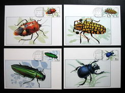 Thailand Maximum Cards 1989 Insects 1st Series - Thailand