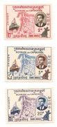 CAMBODGE Scott 76-78 Yvert 84-86 (3) ** Cote 3$ - Cambodge