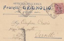 "8774-TRINO(VERCELLI)-PUBBLICITARIA OFFICINA MECCANICA ""FRATELLI GRIGNOLIO""-1909-FP - Pubblicitari"