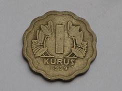 Turquie  1 Kurush  1939   Km#867 Cupronickel    TB - Turquie