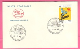 FDC Cavallino 1996 Vespa 750 Lire - 6. 1946-.. República