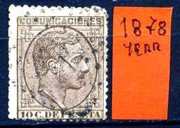 SPAGNA - Year 1878 - Usato - Used - Utilisè - Gebraucht. - 1875-1882 Regno: Alfonso XII
