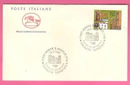 FDC Cavallino 1996 Monte Sant'Angelo Da 750 Lire - 6. 1946-.. Repubblica