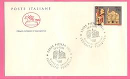 FDC Cavallino 1996 PIENZA Da 750 Lire - 6. 1946-.. Repubblica