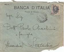 """8875-BUSTA LETTERA DA CHEREN(ERITREA) AFFRANCATA 50c. PARMEGGIANI SOVRASTAMPATO """"Eritrea"""" PER SEZZADIO(ALESSANDRIA)-1929 - Eritrea"""
