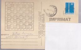 CHESS, POST CARD STATIONERY ROUMANIE 1977 Circulated Bucuresti - Ajedrez