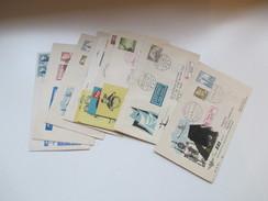 SAS Flüge / Flugpost 1950er Jahre. Dänemark / Grönland / Japan Usw. Mit Schwärzung / Postkrieg! SAS Polar. - Briefmarken