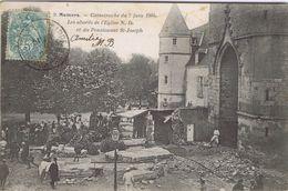 72 - Mamers (Sarthe) - Catastrophe Du 7 Juin 1904 - Les Abords De L'église N.D. Et Du Pensionnat St-Joseph - Mamers