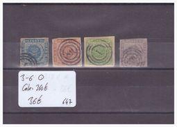DANEMARK - No MICHEL 3-6 OBLITERE  - COTE: 360 € - Used Stamps