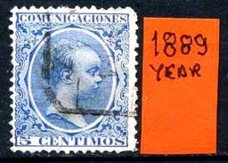 SPAGNA - Year 1889 - Usato - Used - Utilisè - Gebraucht. - 1875-1882 Regno: Alfonso XII