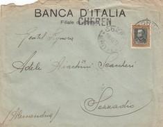 8878-BUSTA DI LETTERA DA CHEREN(ERITREA) AFFRANCATA 50c. EFFIGE VITTORIO EMANUELE III ERITREA PER SEZZADIO(AL)-1932 - Eritrea