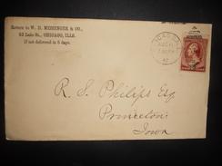 Etats Unis Lettre De Chicago 1887 Pour Iowa - 1847-99 General Issues