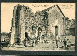 CPA - Environs De Meulan - BRUEIL EN VEXIN - Ruines Du Prieuré St Laurent, Bien Animé - France