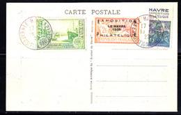 """FRANCE - N° 257a - """"LE HAVRE 1929"""" - EXPOSITION PHILATELIQUE  - CARTE OFFICIELLE - RARE. - France"""