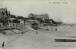 PIE 17-AR-9084 : ARCACHON. LA PLAGE. - Arcachon