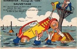 85 NOIRMOUTIER  Carte Humoristique Du Passage Du Gois - Noirmoutier