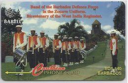 BARBADOS - BAND OF THE BARBADOS DEFENCE FORCE - 92CBDB - Barbados