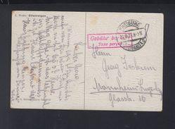 Dt. Reich PK 1923 Freiburg Gebühr Bezahlt - Deutschland
