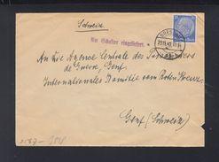 Dt. Reich Brief 1940 Breslau Am Schalter Eingeliefert Nach Schweiz - Briefe U. Dokumente