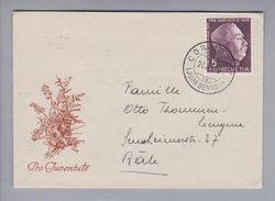 Schweiz Pro Juventute Briefli 1948-10-20 Cormorte Nach Basel - Lettres & Documents