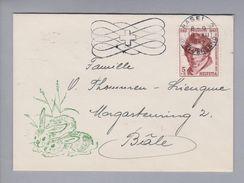 Schweiz Pro Juventute Briefli 1955-12-30 Basel - Pro Juventute