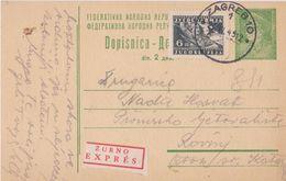 FNRJ  --   DOPISNICA, POSTAL STATIONARY  --    ZURNO, EXPRES - Ganzsachen