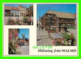 MALMO, SUÈDE - LILLA TORG - TRAVEL IN 1991 - 3 MULTIVUES - - Suède