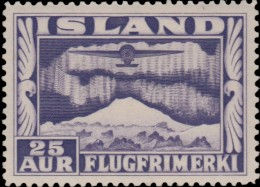 ~~~ Iceland 1934  - Airmail Perf 12½:14 - Mi. 177 A * MH  ~~ - Nuovi