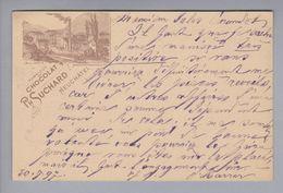 Motiv Schokolade Chocolat Ph.Suchard Ganzsache 5Rp. Bild Bludenz 1897-09-20 Teufenthal - Alimentation