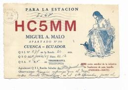 QSL RADIO - HC5MM CUENCA ECUADOR   1949 - Radio
