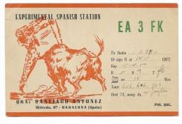QSL RADIO - EA3FK BADALONA SPAGNA    1950 - Radio