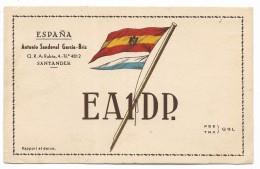 QSL RADIO - EA1DP SANTANDER  SPAGNA    1953 - Radio
