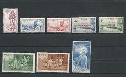 TOGO Scott B10A-B10C, B10D-B10E, CB1-CB3  Yvert 208-210, 226-227, PA6-PA8 (8) * Cote 7,00$ 1941-2 - Togo (1914-1960)