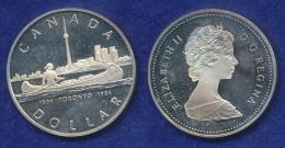 Kanada 1 Dollar 1984 Indianer Im Kanu Ag500 - Canada