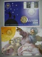 CITTA DEL VATICANO ANNO 2009 - ANNO INTERNAZIONALE DELL'ASTRONOMIA PONTIF BENEDETTO XVI -  BUSTA FILATELICO NUMISMATICA - Vaticano