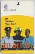 BARBADOS - POLICE FIRE AMBULANCE - 323CBDB - Barbados