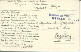 Internement Des Prisonniers De Guerre / Wengen- Suisse - Marcophilie (Lettres)