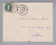 Heimat CH VD Fiez 1883-11-17 Brief Nach Paris Mit Zu#67A 25Rp. Stehende Helvetia - Lettres & Documents