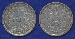 Deutsches Reich 1 Mark 1909E Großer Reichsadler Ag900 - [ 2] 1871-1918 : Imperio Alemán