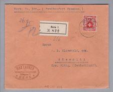 Schweiz 1928-07-03 Bern Wertbrief Nach Gössnitz DE Frankiert Mit EF Zu#164 Fr. 1.20 - Lettres & Documents