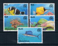 Mauritius 2000 Fische Mi.Nr. 912/13/15/16//18 Gestempelt - Maurice (1968-...)