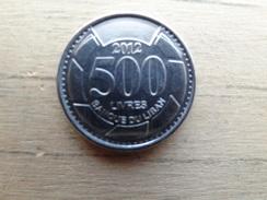 Liban  500 Livres  2012  Km 39 - Lebanon