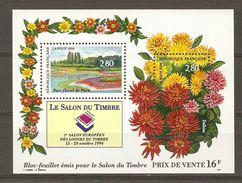 France - 1994 - Salon Du Timbre, Parc Floral De Paris -  Bloc 16 MNH - Blocs & Feuillets