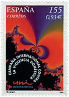 Ref. 82936 * NEW *  - SPAIN . 2001. INTERNATIONAL CAMPAIGN AGAINST DOMESTIC VIOLENCE. CAMPAÑA INTERNACIONAL CONTRA LA VI - 1931-Oggi: 2. Rep. - ... Juan Carlos I