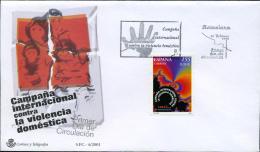 Ref. 250421 * NEW *  - SPAIN . 2001. INTERNATIONAL CAMPAIGN AGAINST DOMESTIC VIOLENCE. CAMPAÑA INTERNACIONAL CONTRA LA V - 1931-Oggi: 2. Rep. - ... Juan Carlos I